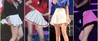 女偶像在韓國帶起了穿著百摺裙的潮流