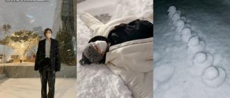 韓國大雪下偶像們興奮出動 RM砌7隻雪鴨仔童心未泯