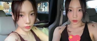 太妍低胸露肩裝騷刺青 小露性感引粉絲擔憂:顧好事業線