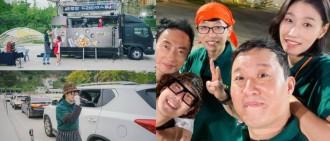 劉在錫朴明洙聯手經營美食車 HAHA路過探班被迫加入拉客